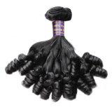 Cabelo humano do laço brasileiro o mais de alta qualidade da mão do cabelo do Virgin