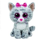 Grand jouet brillant d'animal de peluche de yeux
