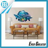 A decoração aceita a etiqueta animal da parede da baleia feita sob encomenda do decalque