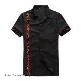 Camisas chegadas novas do clube do vintage de Rockabilly do painel da flama do algodão das lojas de roupa dos homens