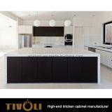 De in het groot Keukenkasten tivo-0251h van de Douane van Keukenkasten Moderne Zwarte