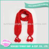 Longue écharpe de polyester de châle de grand dos acrylique chaud de collet