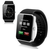 Hot Smart Watch Gt08 Clock Sync Notifier Support SIM TF Connectivité de la carte Apple iPhone Android Phone Smartwatch