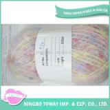 아기 소모사 염색된 색깔 구슬 공상 아크릴 털실