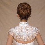 Rivestimento bianco della sposa del reticolo tradizionale cinese per la cerimonia nuziale