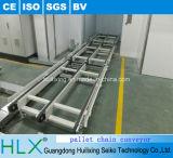 Transporte da tevê do LCD da corrente do aço inoxidável da Dobro-Fileira