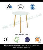새로운 플라스틱 커피용 탁자 윗 표면 단단한 나무 발 - 까만 백색