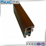 Couleur en bois de profil d'alliage d'aluminium pour le tube rond
