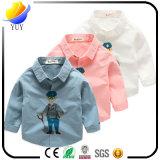 T-Shirts der gereinigten Baumwollkinder mit kundenspezifischer Firmenzeichen-Farbe