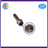 Zoccolo galvanizzato di esagono del acciaio al carbonio 4.8/8.8/10.9 con la vite di spillatura interna
