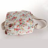防水PVCキャンバス花パターン白人女性袋(23230)