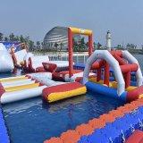 Parque inflable grande del agua con el curso de obstáculo (HL-308)