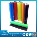 Ímã de borracha do rolo flexível colorido de superfície do PVC do papel da liberação