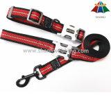Heiß-Verkauf hochwertiges Schwarzes u. Sport-Art-Polyester des Rot-20mm/Nylonleine u. justierbare Muffe mit Reflektorstreifen