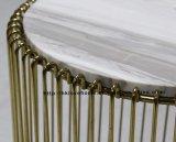 Tableau dinant de marbre de fil en métal de meubles de loisirs de restaurant de reproduction