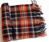 柔らかい感じの冬の方法によって編まれるアクリルのストール/スカーフ(HWBA-001)