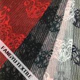 Tela nupcial do laço do algodão bonito do projeto do teste padrão
