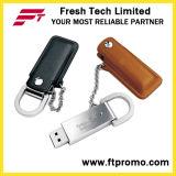 Lecteur flash USB en cuir promotionnel fait sur commande de type (D504)
