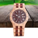 In het groot Houten Horloge van uitstekende kwaliteit 72665 van het Polshorloge van het Bamboe van het Horloge Natuurlijk