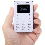 최신 판매에 있는 도매 X6 매우 얇은 소형 이동 전화