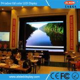 Mur visuel polychrome d'intérieur de P4 DEL pour le fond d'exposition