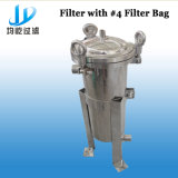 Boîtier de crépine liquide simple d'acier inoxydable de sac