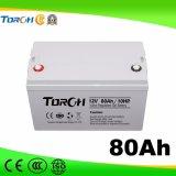 Baterias do gel da bateria acidificada ao chumbo 12V 80ah VRLA da capacidade total