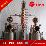 Destilador del alcohol de las calderas dobles/destilería/columna de destilación/equipo de cobre de la destilación