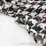Grandi scialle del dente di cane/signora di seta puri stampati chiffoni Scarf (HWBS98)