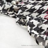 Großer Chiffon- Hundezahn-gedruckter reiner Silk Schal/Dame Scarf (HWBS98)
