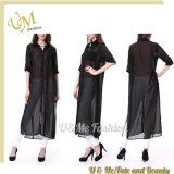 Camicia lunga convenzionale del manicotto per la camicia allentata lunga delle donne