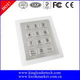Telclado numérico numérico de acero de Stailess de 12 claves enrasados