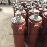 Cylindre hydraulique à trois étages fabriqué en usine pour remorque à benne