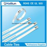 201/304 sola atadura de cables del acero inoxidable de la lengüeta de la escala