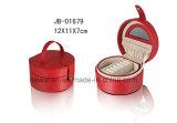 De met de hand gemaakte Klassieke Shell Doos van de Juwelen van het Leer van de Vorm Rode