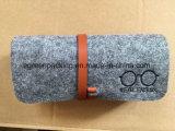 Saco/caixa de feltro para o logotipo do bordado dos Eyeglasses/óculos de sol (F1)