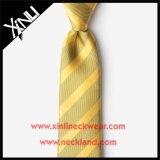 Oro del legame dell'uomo tessuto jacquard della seta di 100%