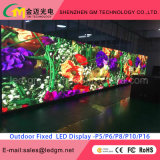 Exhibición LED al aire libre P10 Tamaño personalizado 10mm LED Video Billboard / Pantalla