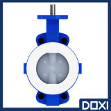 Teflon PTFE PFA FEP Lined/Lining/Coated/Seated Wafer Type Cancel Butterfly Valve for Corrosive Chemical Industry