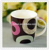 Nueva taza de cerámica al por mayor de China de hueso 12oz con la cuchara
