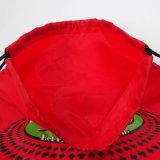 OEMの旅行のための赤い210dナイロンドローストリングのバックパック