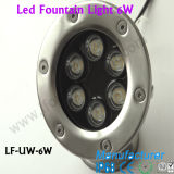 luz subaquática Recessed IP68 do diodo emissor de luz do aço 6W inoxidável