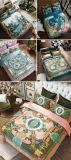 高品質100%の贅沢のブロケードの綿の新しい秋の寝具セット