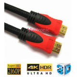 Macho da versão da alta velocidade 1.4 ao cabo masculino de HDMI