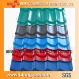 Gewölbtes Aluminiumdach/Wellen-Fliesedes gi-Steel/PPGI Ring Ral Blatt-wie erforderlich vorgestrichene des Stahl-PPGI Melone-Gelb 1028