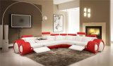 Sofa de Recliners de cuir véritable de Brown pour la salle de séjour à la maison (HC2002)