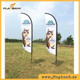 Bandeira de praia da impressão de Digitas da fibra de vidro da promoção do evento/bandeira do vôo