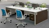 Estação de trabalho de madeira moderna comercial da mobília de escritório
