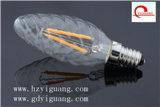 ampoule d'éclairage LED de filament de bougie de 3W E14, Ce/RoHS/UL