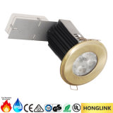 Fuego cambiable LED clasificado Downlight de la portada 9W 12W IP65 Dimmable